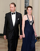 "Hamilton (""Tony"") E. James, President, Chief Operating Officer of Blackstone, and a member of the board of directors of Blackstone Group Management L.L.C., and Amabel Boyce James, arrive for the Official Dinner in honor of Prime Minister David Cameron of Great Britain and his wife, Samantha, at the White House in Washington, D.C. on Tuesday, March 14, 2012..Credit: Ron Sachs / CNP.(RESTRICTION: NO New York or New Jersey Newspapers or newspapers within a 75 mile radius of New York City)"