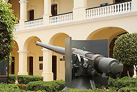 Ship's gun in the courtyard of the Museo Historico Naval or Naval History Museum, city of Veracruz, Mexico