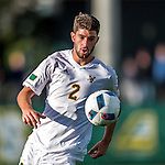 24 September 2016: University of Vermont Catamount Defender Arthur Bacquet, a Junior from Bruxelles, Belgium, in action against the Dartmouth College Big Green at Virtue Field in Burlington, Vermont. The teams played to an overtime 1-1 tie in front of an Alumni Weekend crowd of 1,710 fans. Mandatory Credit: Ed Wolfstein Photo *** RAW (NEF) Image File Available ***