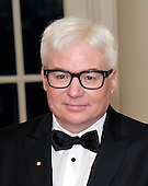 Actor Mike Myers arrives for the State Dinner in honor of Prime Minister Trudeau and Mrs. Sophie Gr&eacute;goire Trudeau of Canada at the White House in Washington, DC on Thursday, March 10, 2016.<br /> Credit: Ron Sachs / Pool via CNP