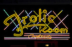 The Art Deco Frolic Room bar neon sign on Hollywood blvd.