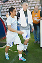 "(L-R) Yuto Nagatomo, Esteban Cambiasso (Inter), APRIL 14, 2013 - Football / Soccer : Yuto Nagatomo of Inter leaves the pitch after the Italian ""Serie A"" match between Cagliari 2-0 Inter Milan at Stadio Nereo Rocco in Trieste, Italy. Nagatomo returned to the field after an injury that held him in February, but injured the same knee after 6 minutes of play. (Photo by Enrico Calderoni/AFLO SPORT)"