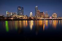 Austin Skyline Photo with reflection on Lady Bird Town Lake