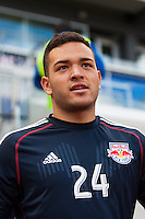 New York Red Bulls goalkeeper Santiago Castano (24). The New York Red Bulls defeated the Philadelphia Union 2-1 during a Major League Soccer (MLS) match at Red Bull Arena in Harrison, NJ, on March 30, 2013.