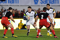 David Wilson of Bath Rugby in possession. Aviva Premiership match, between Saracens and Bath Rugby on January 30, 2016 at Allianz Park in London, England. Photo by: Patrick Khachfe / Onside Images