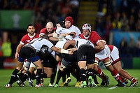 Romania hold onto possession at the back of a maul. Rugby World Cup Pool D match between Canada and Romania on October 6, 2015 at Leicester City Stadium in Leicester, England. Photo by: Patrick Khachfe / Onside Images