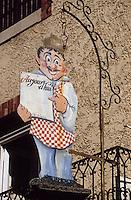 Europe/France/Provence-Alpes-Côte d'Azur/84/Vaucluse/Vaison-la-Romaine: Détail d'un porte-menu