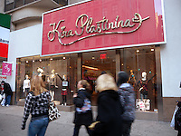 The closed Kira Plastinina boutique in midtown in New York on Sunday, January 4, 2009. The trendy boutique, featuring the designs of the 16 year old designer of the same name, shut it's doors after filing for Chapter 7 bankruptcy. The KP Fashion Co. had spent and estimated $80 million expanding into the United States in May 2008 opening up a dozen stores in various cities. The company was bankrolled by Sergei Plastinin, a Russian millionaire, who is the designer's father. The 70 stores in Eastern Europe are unaffected. (© Richard B. Levine)