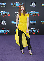 """HOLLYWOOD, CA - April 19: Karen Gillan, At Premiere Of Disney And Marvel's """"Guardians Of The Galaxy Vol. 2"""" At The Dolby Theatre  In California on April 19, 2017. Credit: FS/MediaPunch"""