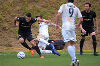 Justin Gulley (Team Wellington) in action during the Oceania Football Championship final (second leg) football match between Team Wellington and Auckland City FC at David Farrington Park in Wellington, New Zealand on Sunday, 7 May 2017. Photo: Dave Lintott / lintottphoto.co.nz
