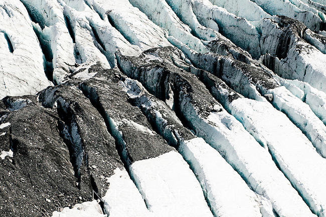 Crevasses on Franz Josef Glacier, Westland National Park, West Coast, New Zealand