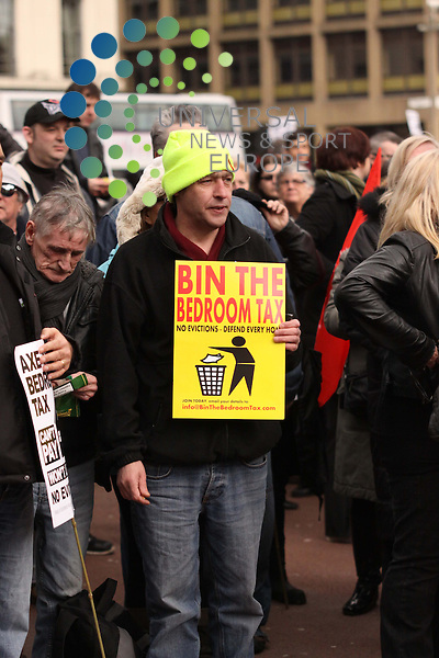 Mass demostration against the bedroom tax in Glasgow. Picture: Craig Jardine/Universal News and Sport 30 March 2013