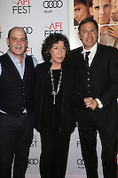 HOLLYWOOD, CA - NOVEMBER 11: Matthew Weiner, Lily Tomlin and David O. Russell at the premiere of 'Flirting With Disaster' at AFI Fest 2016, presented by Audi at TCL Chinese 6 Theater on November 11, 2016 in Hollywood, California. Credit: Faye Sadou/MediaPunch