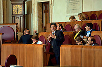 Roma, 13 Giugno 2012.Consiglio comunale in Campidoglio nell'aula Giulio Cesare per  la discussione sulla  cessione del 21% della controllata Acea, l'azienda che si occupa di acqua e servizi. L'intervento di Umberto Marroni, capogruppo del Pd.