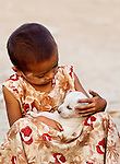 Girl & Puppy, Myanmar