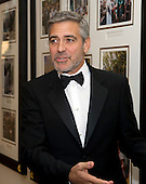 George Clooney arrives for the Official Dinner in honor of Prime Minister David Cameron of Great Britain and his wife, Samantha, at the White House in Washington, D.C. on Tuesday, March 14, 2012..Credit: Ron Sachs / CNP.(RESTRICTION: NO New York or New Jersey Newspapers or newspapers within a 75 mile radius of New York City)