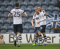 Preston North End's Daryl Horgan celebrates scoring his sides second goal  with first goal scorer Tom Barkuizen<br /> <br /> Photographer Mick Walker/CameraSport<br /> <br /> The EFL Sky Bet Championship - Preston North End v Reading - Saturday 11th March 2017 - Deepdale - Preston<br /> <br /> World Copyright &copy; 2017 CameraSport. All rights reserved. 43 Linden Ave. Countesthorpe. Leicester. England. LE8 5PG - Tel: +44 (0) 116 277 4147 - admin@camerasport.com - www.camerasport.com