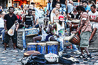 Musicians playing in the street of Athens, Greece