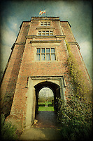 The Elizabethan Tower at Sissinghurst Castle Garden in Kent, United Kingdom