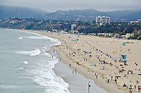 Santa Monica beach on Sunday, April 14, 2013...