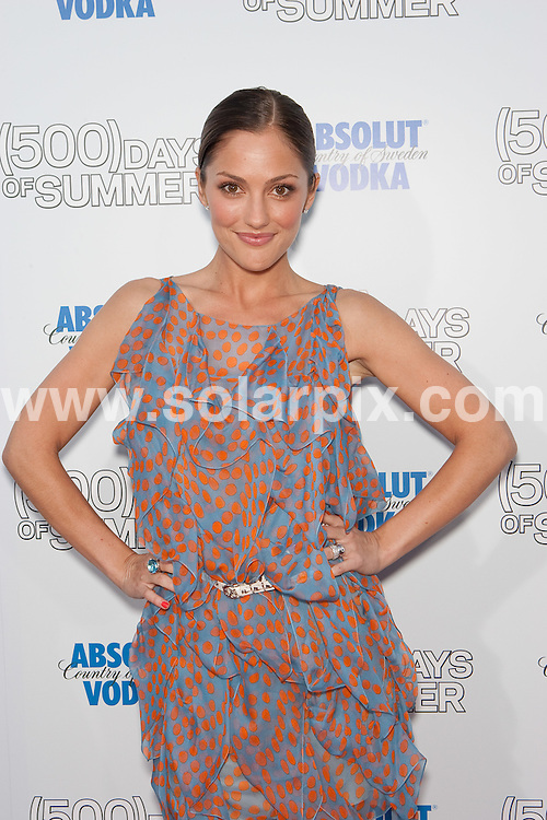 """**ALL ROUND PICTURES FROM SOLARPIX.COM**.**SYNDICATION RIGHTS FOR UK, AUSTRALIA, DENMARK, PORTUGAL, S. AFRICA, SPAIN & DUBAI (U.A.E) ONLY**.""""(500) Days of Summer"""" Los Angeles Premiere at the Egyptian Theater, Hollywood, CA, USA. June 24, 2009..This pic: Minka Kelly..JOB REF: 9335 PHZ (Hatcher)   DATE: 24_06_2009.**MUST CREDIT SOLARPIX.COM OR DOUBLE FEE WILL BE CHARGED**.**ONLINE USAGE FEE GBP 50.00 PER PICTURE - NOTIFICATION OF USAGE TO PHOTO @ SOLARPIX.COM**.**CALL SOLARPIX : +34 952 811 768 or LOW RATE FROM UK 0844 617 7637**"""