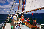 Passengers on the wooden schooner Appledor out of Camden, Maine
