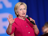 Philadelphia, PA - August 16, 2016: Democratic presidential candidate Hillary Clinton speaks at a campaign rally in Philadelphia, Pennsylvania, August 16, 2016.  (Photo by Grant Hollman/Media Images International)