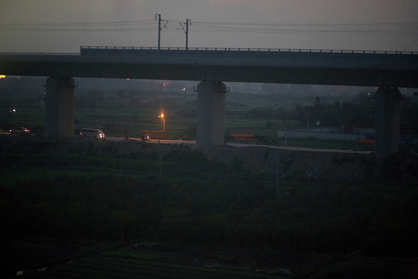 Near Dongguan, in the Guangdong province, seen from the train to Beijing