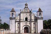 The restored 17th century church of La Merced in the Spanish colonial town of Gracias, Lempira, Honduras...