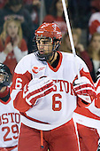 Alexx Privitera (BU - 6) - The Boston University Terriers defeated the visiting Providence College Friars 4-2 (EN) on Saturday, December 13, 2012, at Agganis Arena in Boston, Massachusetts.