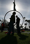 Bronze Sculptures are placed in River Park in Bonita Springs Wednesday. The bronze sculptures were purchased by the city of Bonita Springs from Jane DeDecker who lives in Colorado. The sculptures were shipped from here studion in Colorado to Bonita Springs via truck.  Erik Kellar/Staff