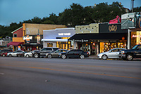 South Congress is a neighborhood located on South Congress Avenue in Austin, Texas, United States. It is also a nationally known shopping and cultural district famous for its many eclectic small retailers, restaurants, music and art venues and, more recently, food trucks - Stock Image.