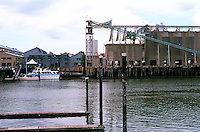 Vancouver: Granville Island--Ocean Construction from site of EXPO '86.  Photo '86.