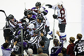 Roughing between players during ice-hockey match between Los Angeles Kings and Colorado Avalanche in NHL league, Februar 26, 2011 at Staples Center, Los Angeles, USA. (Photo By Matic Klansek Velej / Sportida.com)