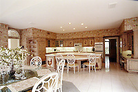 Country Kitchen With Ceiling Speakers
