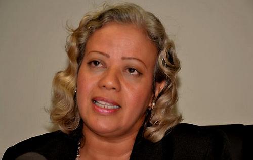 La alcaldesa de Villa Bisonó (Navarrete) Amantina Escarlett  Gómez Garrido, dirigente del Partido de la Liberación Dominicana (PLD),
