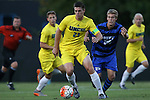 15 September 2015: UNCW's Colin Bonner (23) and Duke's Cody Brinkman (25). The Duke University Blue Devils hosted the University of North Carolina Wilmington Seahawks at Koskinen Stadium in Durham, NC in a 2015 NCAA Division I Men's Soccer match. UNCW won the game 3-0.