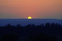 "Sunset in Russian National Park ""Samarskaya Luka"""