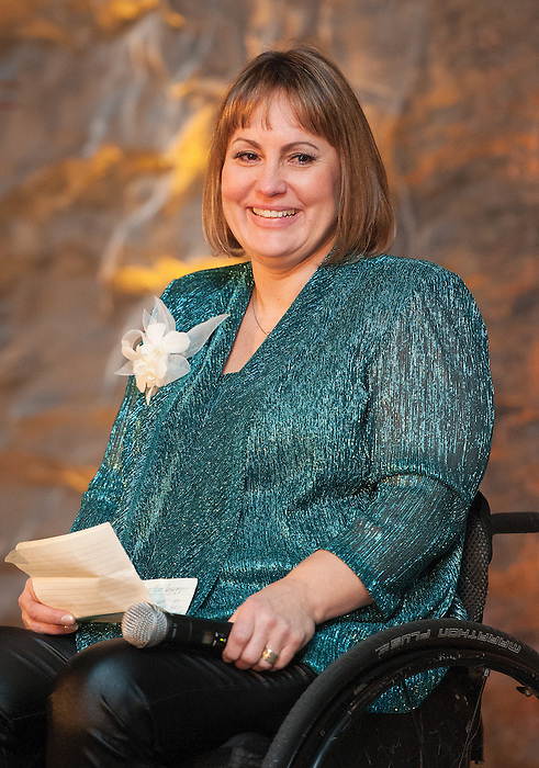 Ottawa, ON &ndash; Nov 27 2015 &ndash; Marni Abbott-Peter at the Canadian Paralympic Hall of Fame<br /> (Photo: Matthew Murnaghan/Canadian Paralympic Committee)