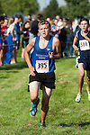 Mountain View freshman Brion Lowry during the Roger Curran Invitational varsity race at West Park in Nampa, Idaho on September 8, 2012. Lowry finished twelfth in the 4A-5A race with a time 17:58.93.