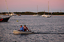 BLOCK ISLAND, RI - Sept. 3, 2009--Sunset at the Boat Basin on the Great Salt Pond, Block Island.  CREDIT: JODI HILTON FOR THE NEW YORK TIMES