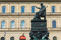 Statue of Maximillian Joseph, King of Bavaria, by the Residenz in Munich, Bavaria, Germany
