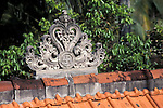 Hindu Roof Peak Decoration in Bali featuring the Swastika