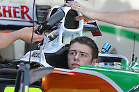 Paul Di Resta will drive in the German Touring Car Championship this season after rejoining Mercedes. The Briton won the title in 2010 before moving to Formula 1, but lost his seat at Force India for 2014 to Mexican driver Sergio Perez, who had been discarded by McLaren.<br /> With no other F1 seats available, the 27-year-old has opted to move on.  Mercedes-Benz has given me a car I can use to fight for the title,&quot; he said. &quot;I realise that it will not be easy.&quot;<br /> Picture Universal News and Sport, Scotland 21/01/2014