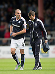 Dundee v St Johnstone...15.08.15  SPFL   Dens Park, Dundee<br /> James McPake limps off injured<br /> Picture by Graeme Hart.<br /> Copyright Perthshire Picture Agency<br /> Tel: 01738 623350  Mobile: 07990 594431
