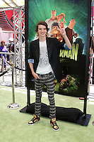 "LOS ANGELES - AUG 5:  Kodi Smit-McPhee arrives at the ""ParaNorman"" Premiere at Universal CityWalk on August 5, 2012 in Universal City, CA"