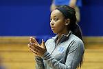 05 November 2015: Duke's Lexie Brown. The Duke University Blue Devils hosted the Pfeiffer University Falcons at Cameron Indoor Stadium in Durham, North Carolina in a 2015-16 NCAA Women's Basketball Exhibition game. Duke won the game 113-36.