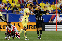 Harrison, NJ - Wednesday July 06, 2016: Jorge Gonzalez during a friendly match between the New York Red Bulls and Club America at Red Bull Arena.