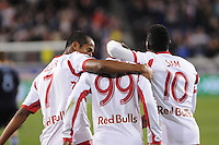 HARRISON, NJ - Thursday, October 30, 2014: The New York Red Bulls win over Sporting Kansas City at Red Bull Arena 2-1 in the knockout round of the MLS Playoffs.