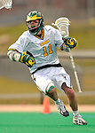 10 April 2007: University of Vermont Catamounts' Dan Zwirko, a Senior from Longmeadow, MA, in action against the Holy Cross Crusaders at Moulton Winder Field, in Burlington, Vermont. The Crusaders rallied to defeat the Catamounts 5-4...Mandatory Photo Credit: Ed Wolfstein Photo